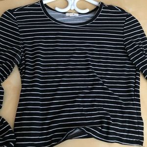Striped long sleeve tee from ardene, size small